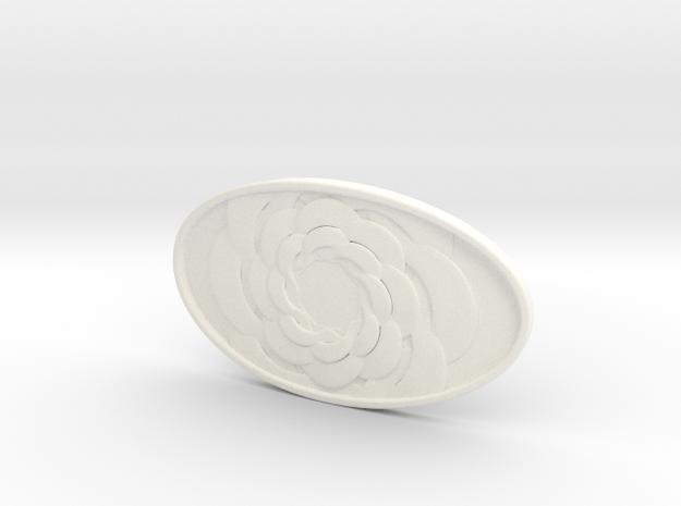 Carla Belt Buckle  in White Processed Versatile Plastic