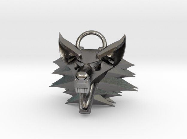 The Witcher pendant in Polished Nickel Steel