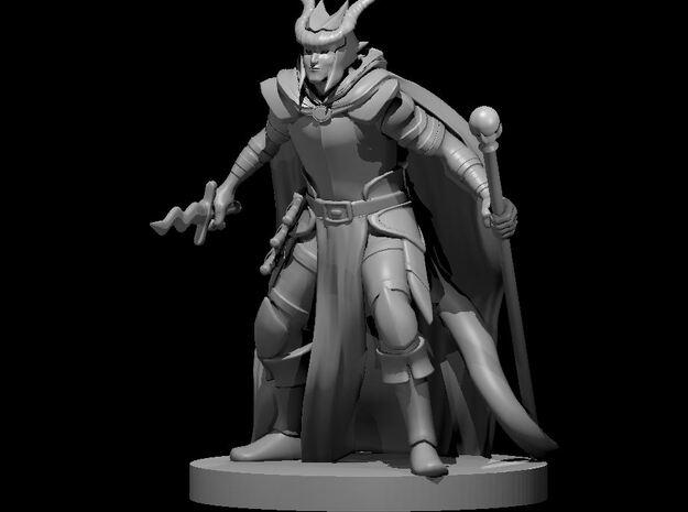 Tiefling Male Warlock in Smooth Fine Detail Plastic