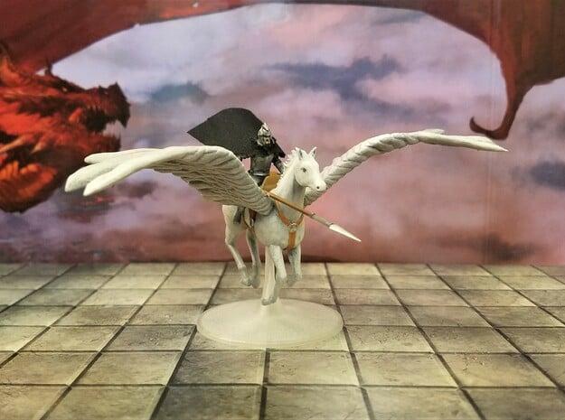 Paladin on a Pegasus in White Natural Versatile Plastic