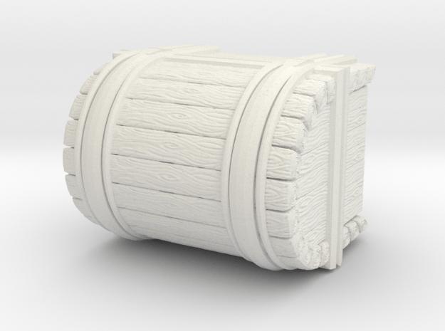 Wooden Treasure Chest 1 CM High in White Natural Versatile Plastic