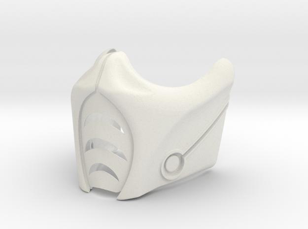 MK9 Sub Zero Mask in White Natural Versatile Plastic