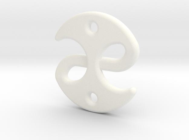 Fable medallion in White Processed Versatile Plastic