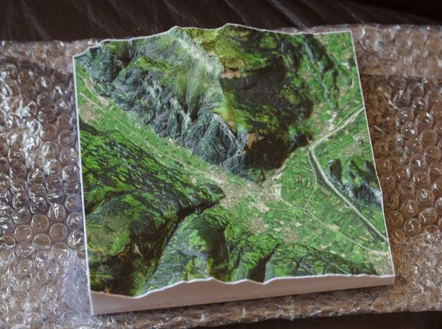Sargans and Gonzen, Switzerland, 1:75000 in Natural Full Color Sandstone