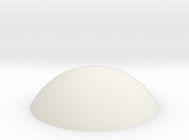 Haube_143mm in White Natural Versatile Plastic
