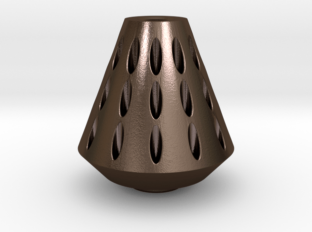 Rocket Nose Cone in Polished Bronze Steel