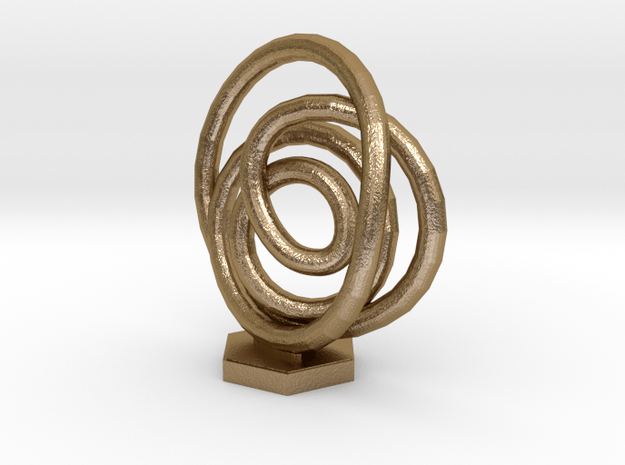 Spiral Knot in Polished Gold Steel