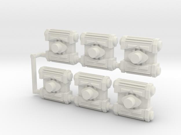 Rattrap Demo Charges (5mm/Siege Port) in White Natural Versatile Plastic: Medium
