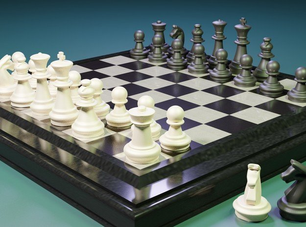 AR3D_Chess Set_00001_Knight in White Natural Versatile Plastic