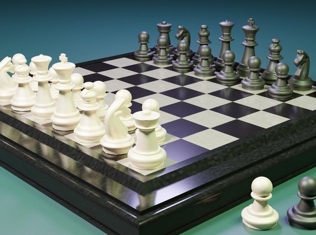 AR3D_Chess Set_00001_Pawn in White Natural Versatile Plastic