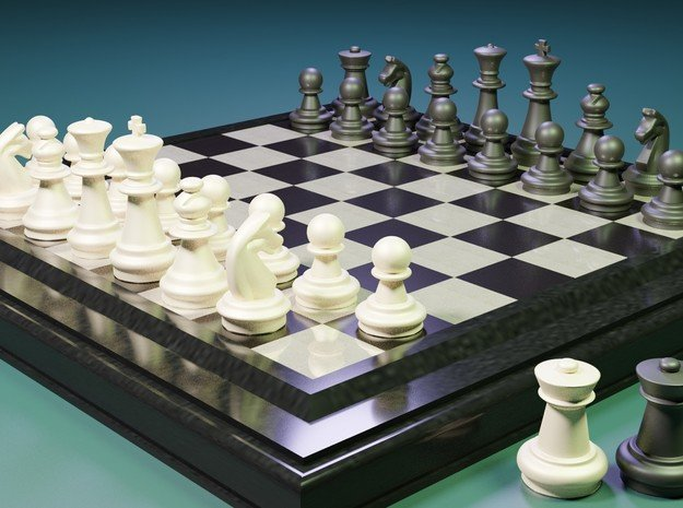 AR3D_Chess Set_00001_Rook in White Natural Versatile Plastic