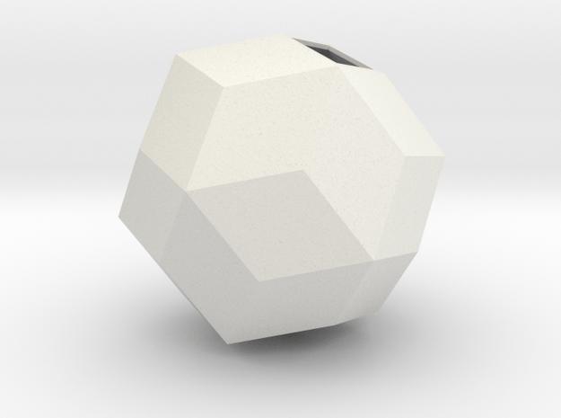 Rhombic Triacontahedron in White Natural Versatile Plastic