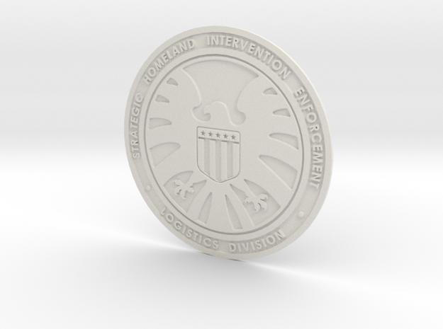 Shield badge in White Natural Versatile Plastic