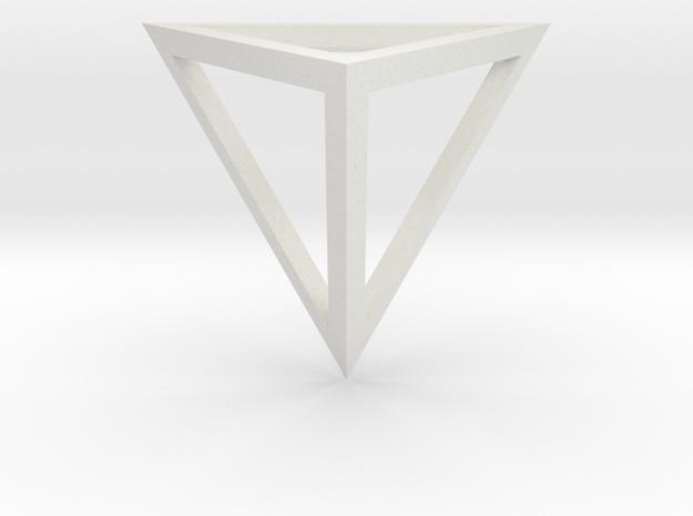 Tetrahedron open in White Natural Versatile Plastic