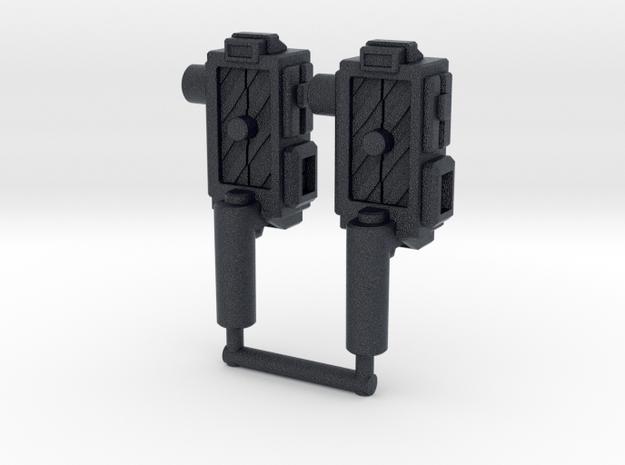 """Sparkbuster"" Traps (5mm) in Black PA12: Medium"