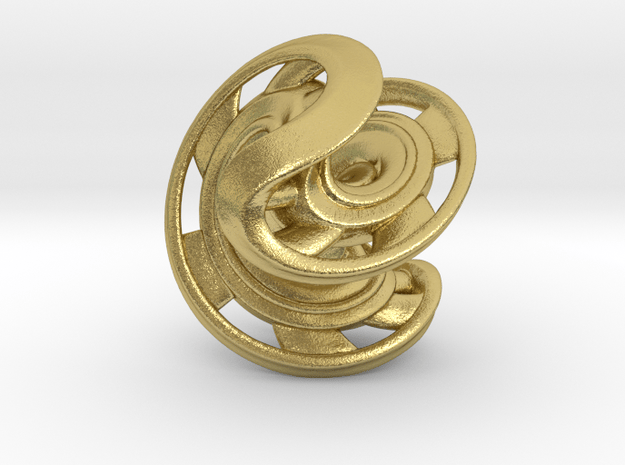 Ring X2 in Natural Brass: Small