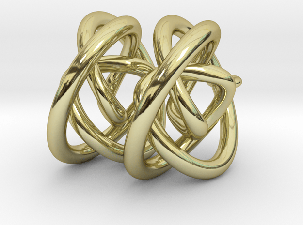 infinity knot earring in 18k Gold Plated Brass