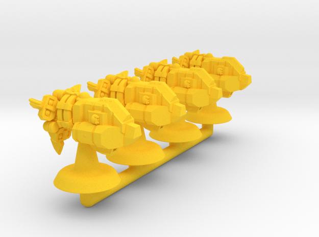 Bison Class Strike Frigate- 1:20000 in Yellow Processed Versatile Plastic