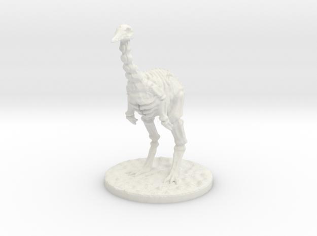 The Skeletal Ostrich in White Natural Versatile Plastic