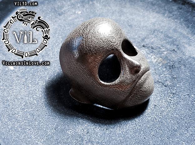 Leslie VERNON Pendant ⛧ VIL ⛧ in Polished Bronzed-Silver Steel