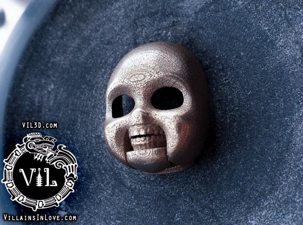 Chucky SKULL Pendant  ⛧ VIL ⛧ in Polished Bronzed-Silver Steel