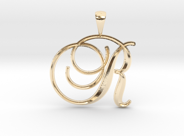 R in 14K Yellow Gold