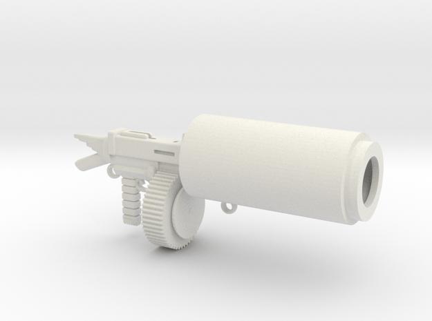 Salvation 93 Caliber Blaster by Mignola Robotics in White Natural Versatile Plastic