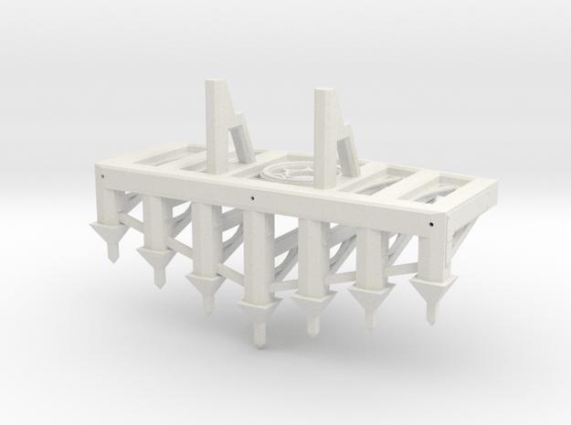 Gothic Plow in White Natural Versatile Plastic