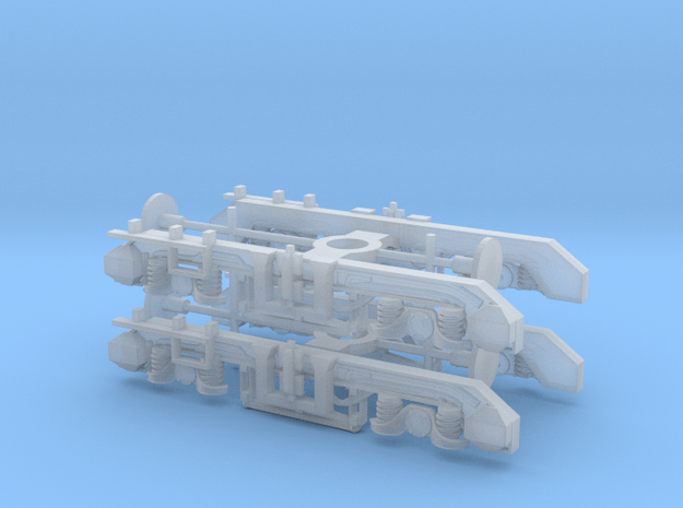 2x Class 71/74 Bogies in Smooth Fine Detail Plastic
