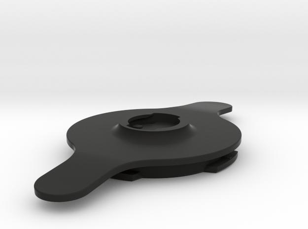 Quad Lock-PopSocket Swappable Adapter in Black Natural Versatile Plastic
