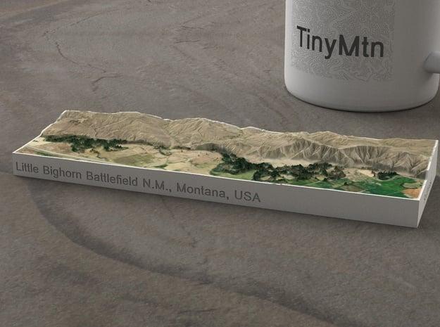 Little Bighorn, Montana, USA, 1:50000 in Natural Full Color Sandstone
