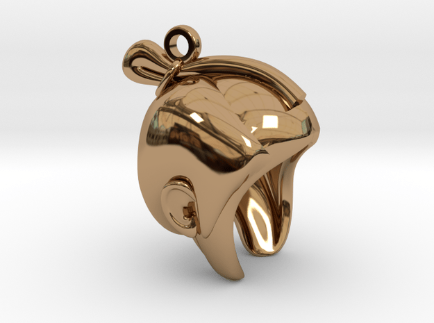 SAMURAI Pendant in Polished Brass