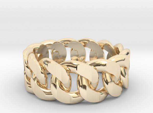 Cuban Cubain Fashion Ring in 14K Yellow Gold