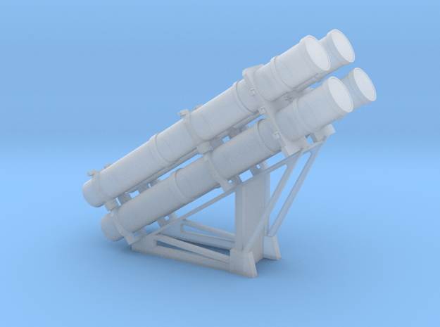 RGM-84 Harpoon Launcher 1/96 in Smooth Fine Detail Plastic