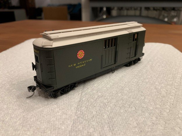 HO Pacific Electric / USMC Portable Substation in Smooth Fine Detail Plastic