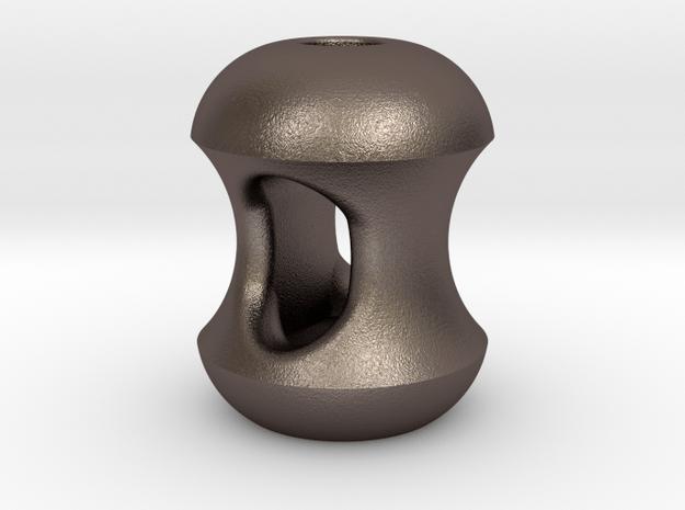 Apple Cores : Begleri Bead (V2) in Polished Bronzed-Silver Steel