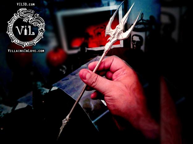 Savini TRIDENT ⛧ VIL ⛧ in Polished Bronzed-Silver Steel