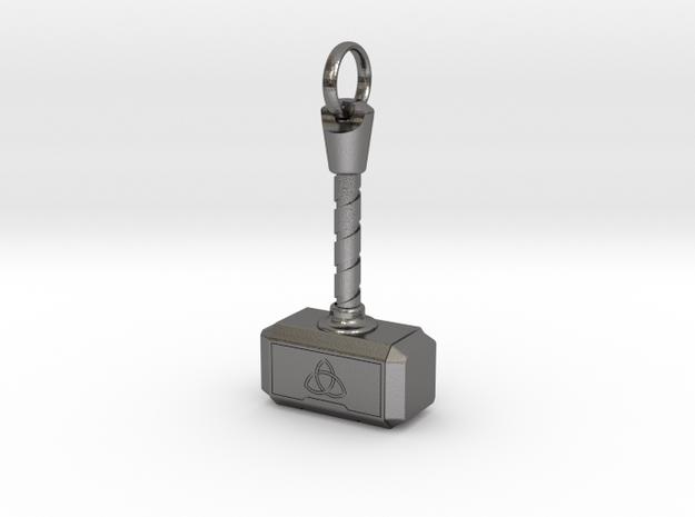 Thor's Hammer - Mjölnir in Polished Nickel Steel: Small