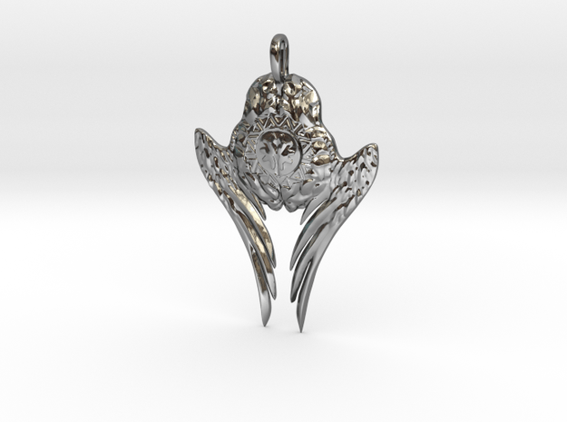 winged intellect in Fine Detail Polished Silver