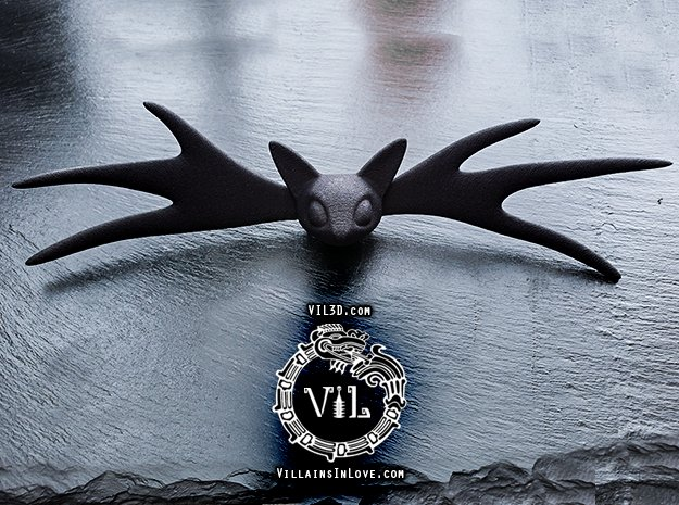 LIFE SIZE Jack Bow Tie ⛧ VIL ⛧ in Black Natural Versatile Plastic