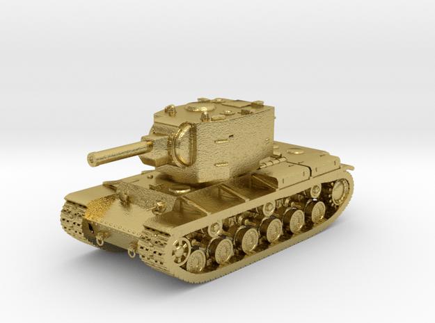 Tank - KV-2 - size Large in Natural Brass