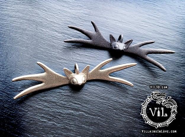 JACK Bow Pendant ⛧ VIL ⛧ in Matte Black Steel