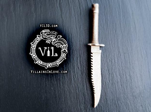 PART 6 Blade Pendant ⛧ VIL ⛧  in Polished Bronzed-Silver Steel