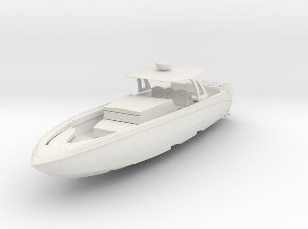 "1/87 Speedboat ""Cigarette Open 42"" in White Natural Versatile Plastic"