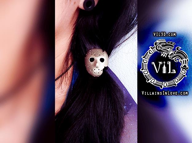 Part 7 HAIR Tie Pendant ⛧ VIL ⛧ in Polished Bronzed-Silver Steel