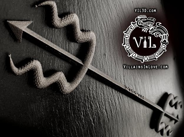 3TEETH Divine Trident - LIMITED EDITION ⛧VIL⛧ in Matte Black Steel