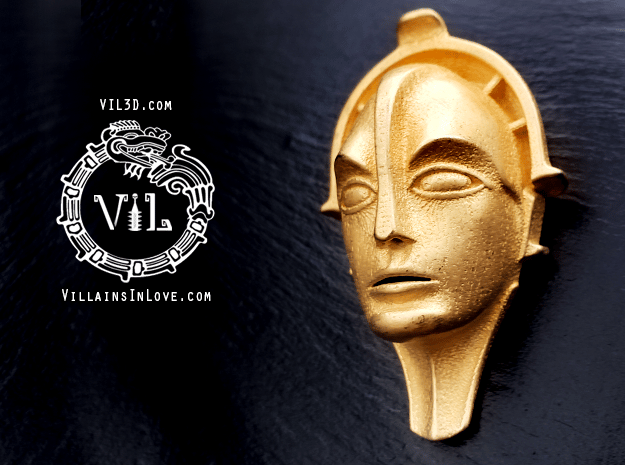 Maria DLX Pendant  ⛧ VIL ⛧ in Polished Gold Steel