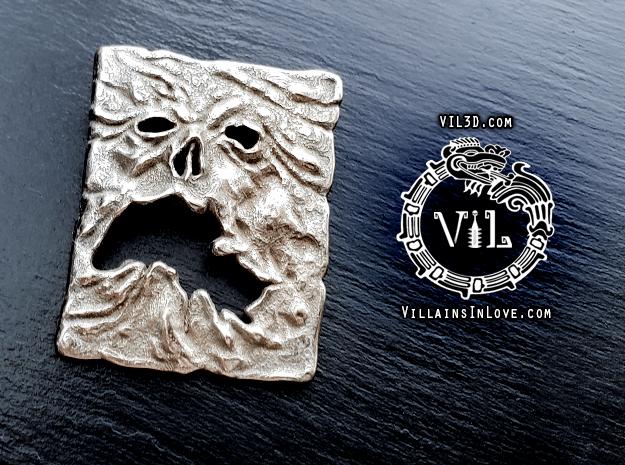 NECRONOMICON Evil Dead 2 Pendant ⛧ VIL ⛧ in Polished Bronzed-Silver Steel: Small
