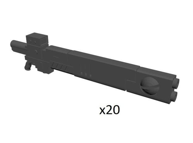 Space communist rifle 28mm in Smoothest Fine Detail Plastic