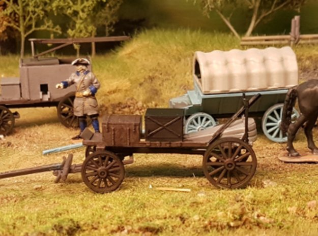 Carolean Field Forge Wagon in Smooth Fine Detail Plastic: 1:56